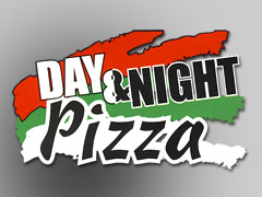 Day and Night Pizza Logo