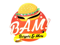 Bam Burgers  and More Logo