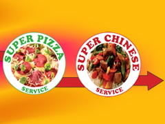 Super Pizza Service Logo