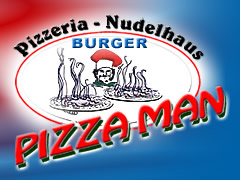 Pizzeria Pizza Man Logo