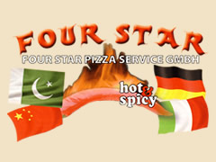 Four Star Pizza Service Logo