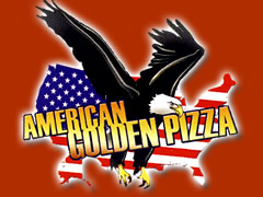 American Golden Pizza Logo