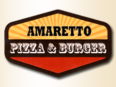 Amaretto Pizza und Burger Logo